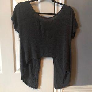 Open back t-shirt crop top